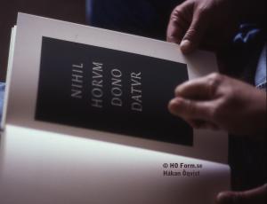 Typografiskt studium I, bok satt med typsnittet Janson
