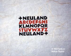 Typografisk studium II. Neuland tryckt med original-typerna