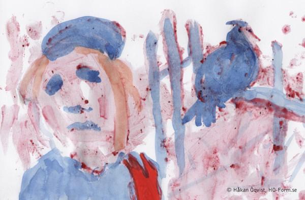 Röd handske - Blå fågel