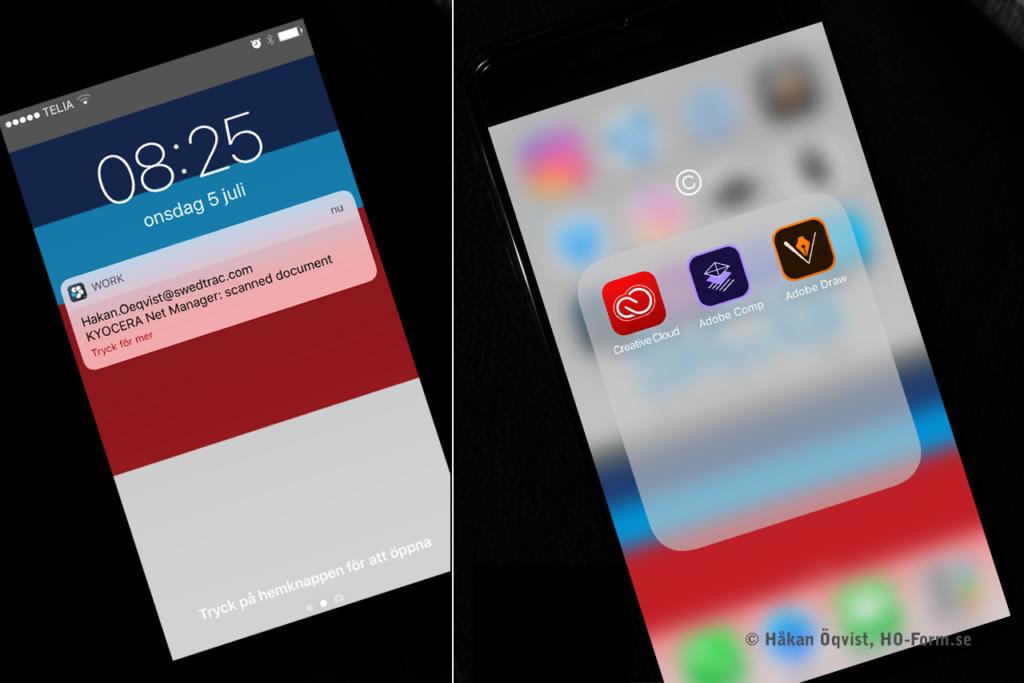 Smart startskärm och hemskärm. iPhone 7.
