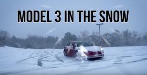 Model 3 i snö!