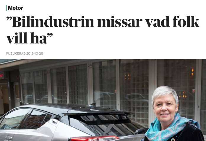 """BILFORMGIVNING: """"Bilindustrin missar vad folk vill ha"""""""