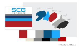 Färgpalett för SCG NORDIC AB