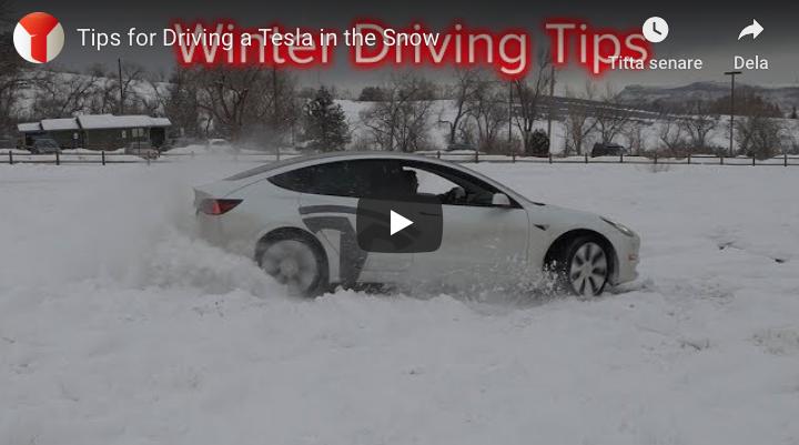 Många bra vintertips för din Tesla