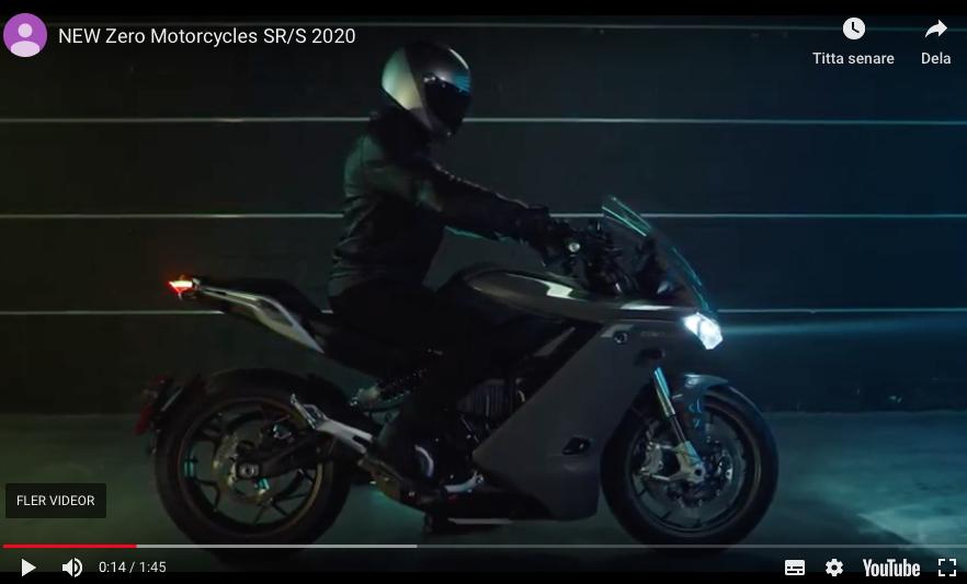 Läckt video om Zero SR/S elmotorcykel