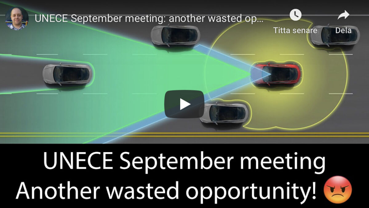 UNECE September meeting: another wasted opportunity