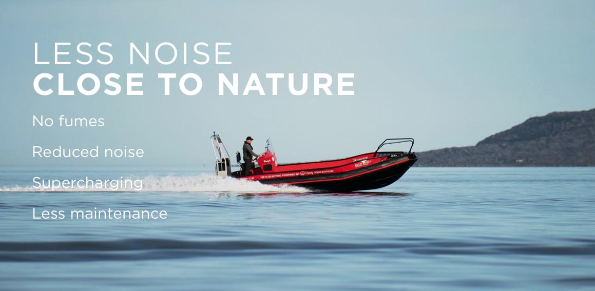 Norska Evoy presenterar starkare elmotorer för båtar